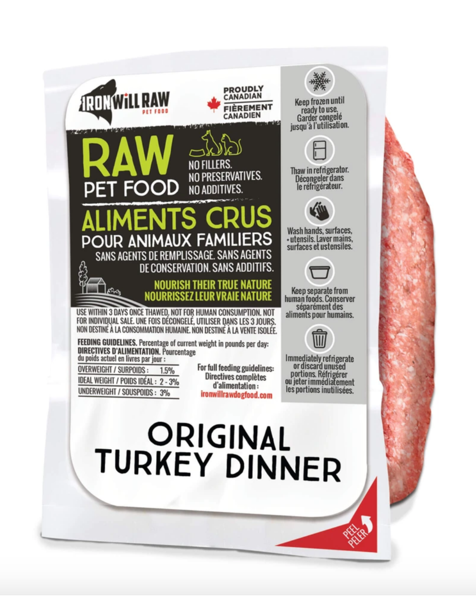 IRON WILL RAW IWR TURKEY 12LB