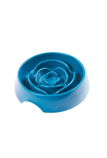 MESSY MUTTS MESSY MUTTS SLOW FEEDER BOWL BLUE