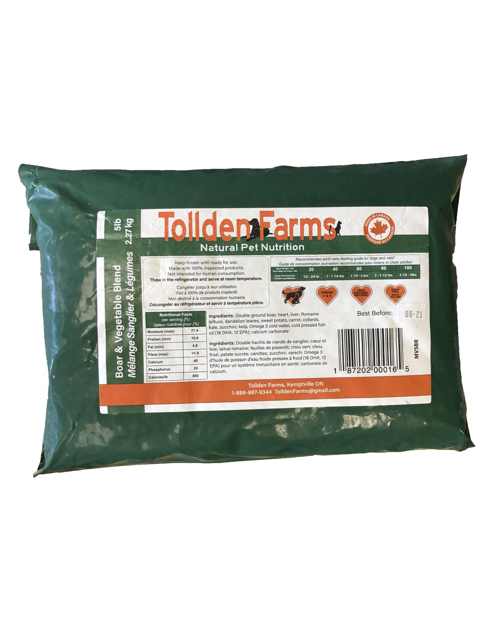 TOLLDEN FARMS TOLLDEN BOAR & VEG 5LB