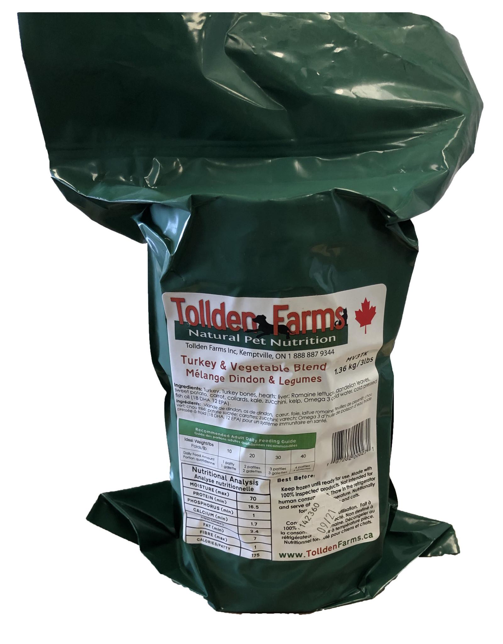 TOLLDEN FARMS TOLLDEN TURKEY & VEG 3LB