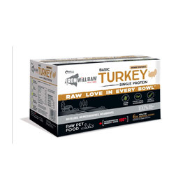 IRON WILL RAW IRON WILL RAW BASIC TURKEY 6LB