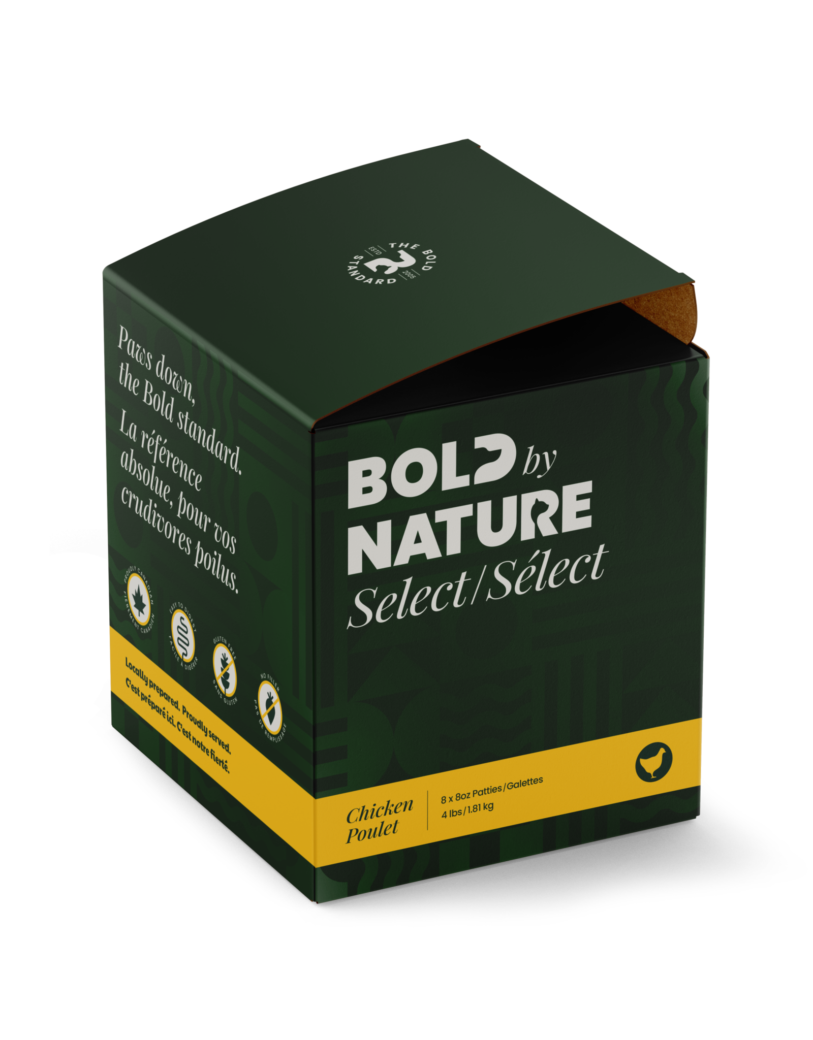 BOLD BY NATURE BOLD CHICKEN PATTIES 4lb