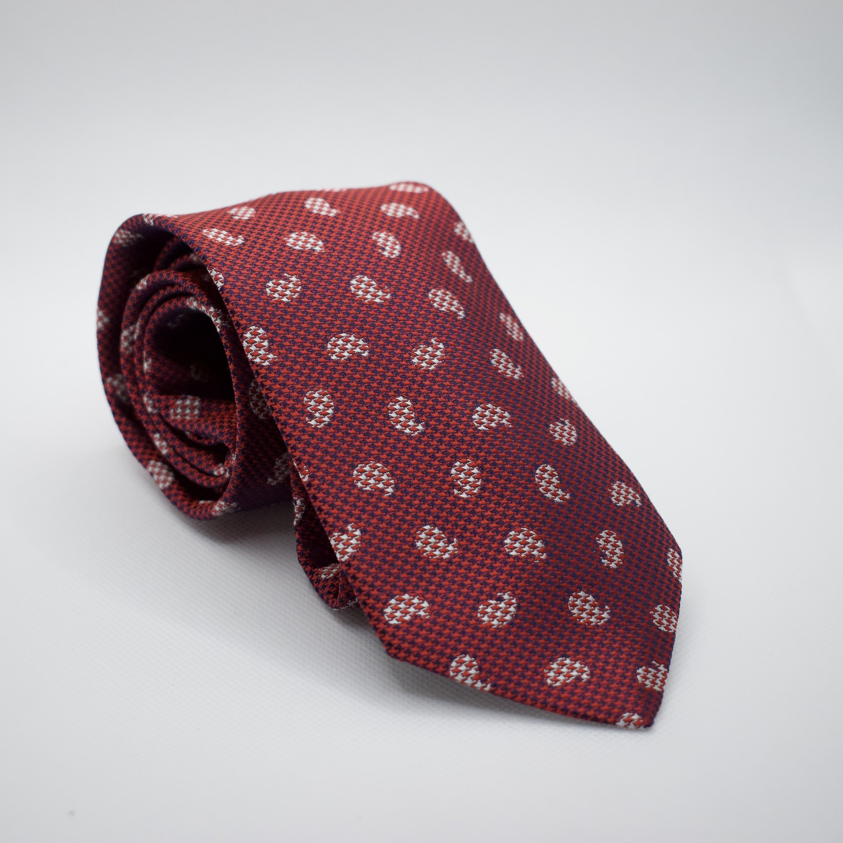 Dion Dion Ties Red Micro Paisley