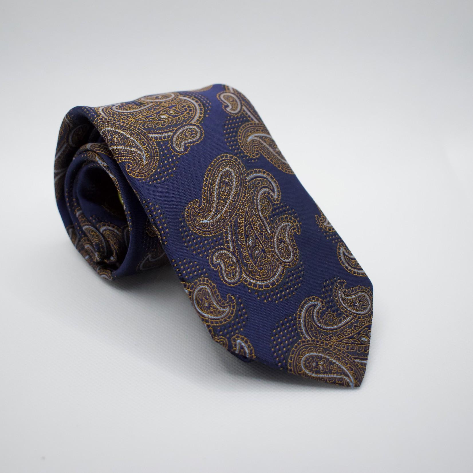 Dion Dion Ties Blue/Brown Paisley