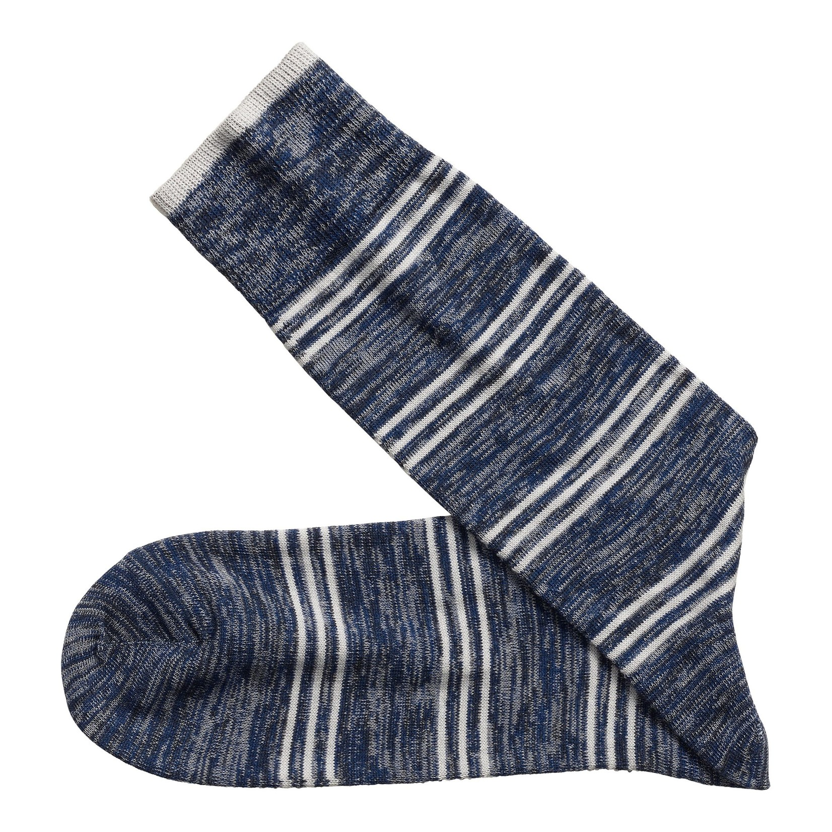 J&M Johnston & Murphy Heather Stripe Socks