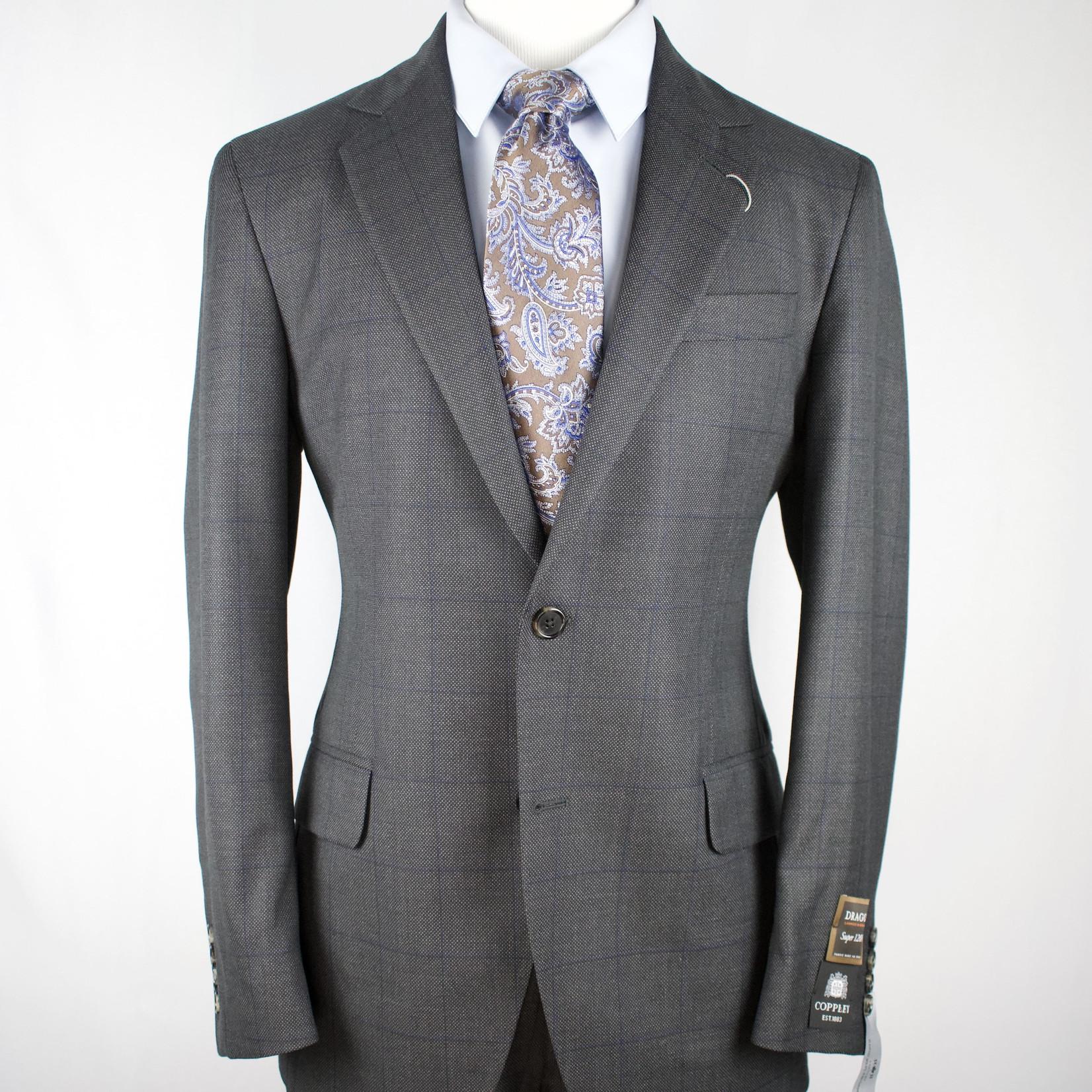 Coppley Coppley Suit Charcoal Windowpane