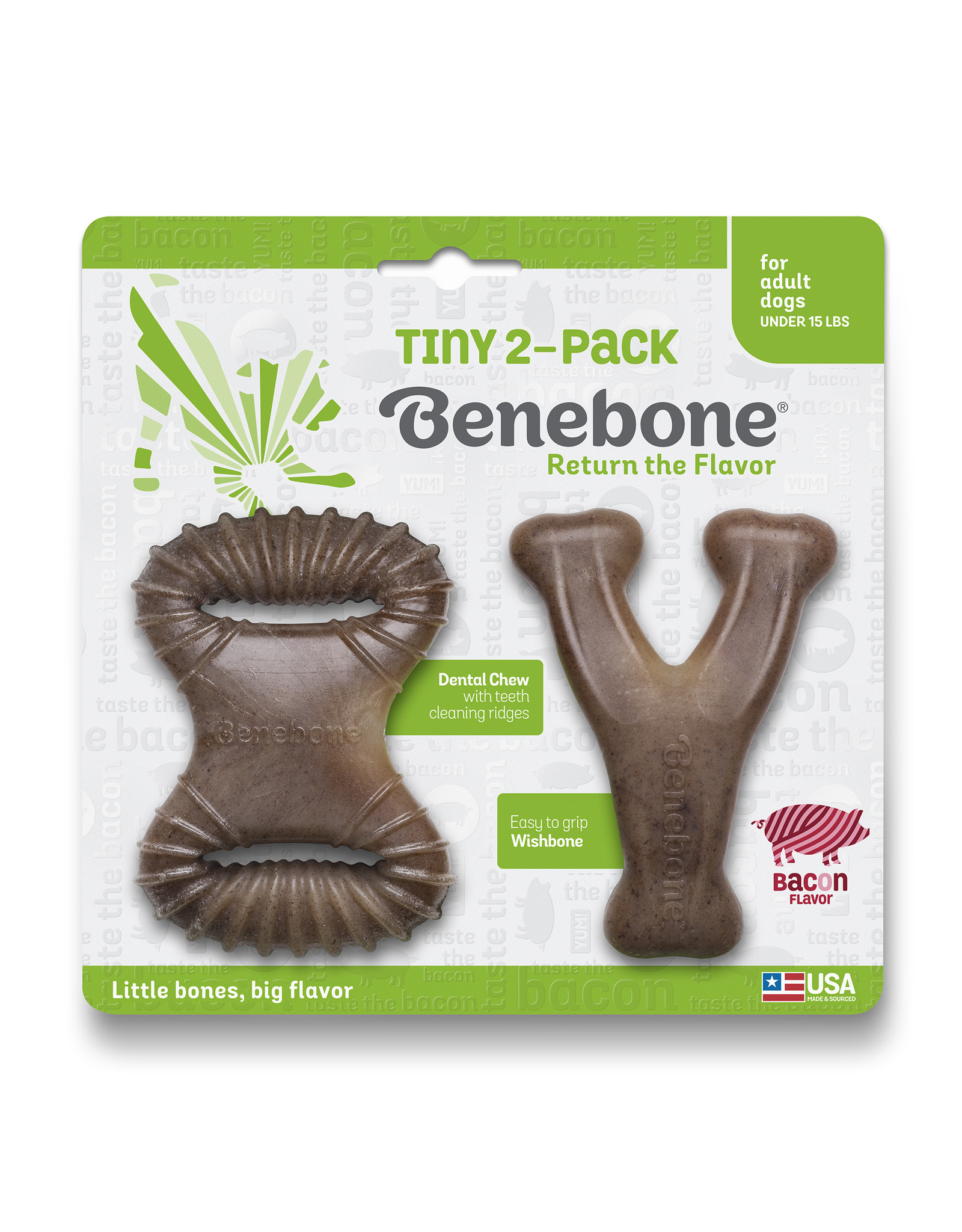 Benebone Benebone Tiny 2-Pack Wishbone & Dental Chew