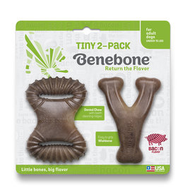 Benebone Benebone Tiny 2-Pack Wishbone & Dental Chew