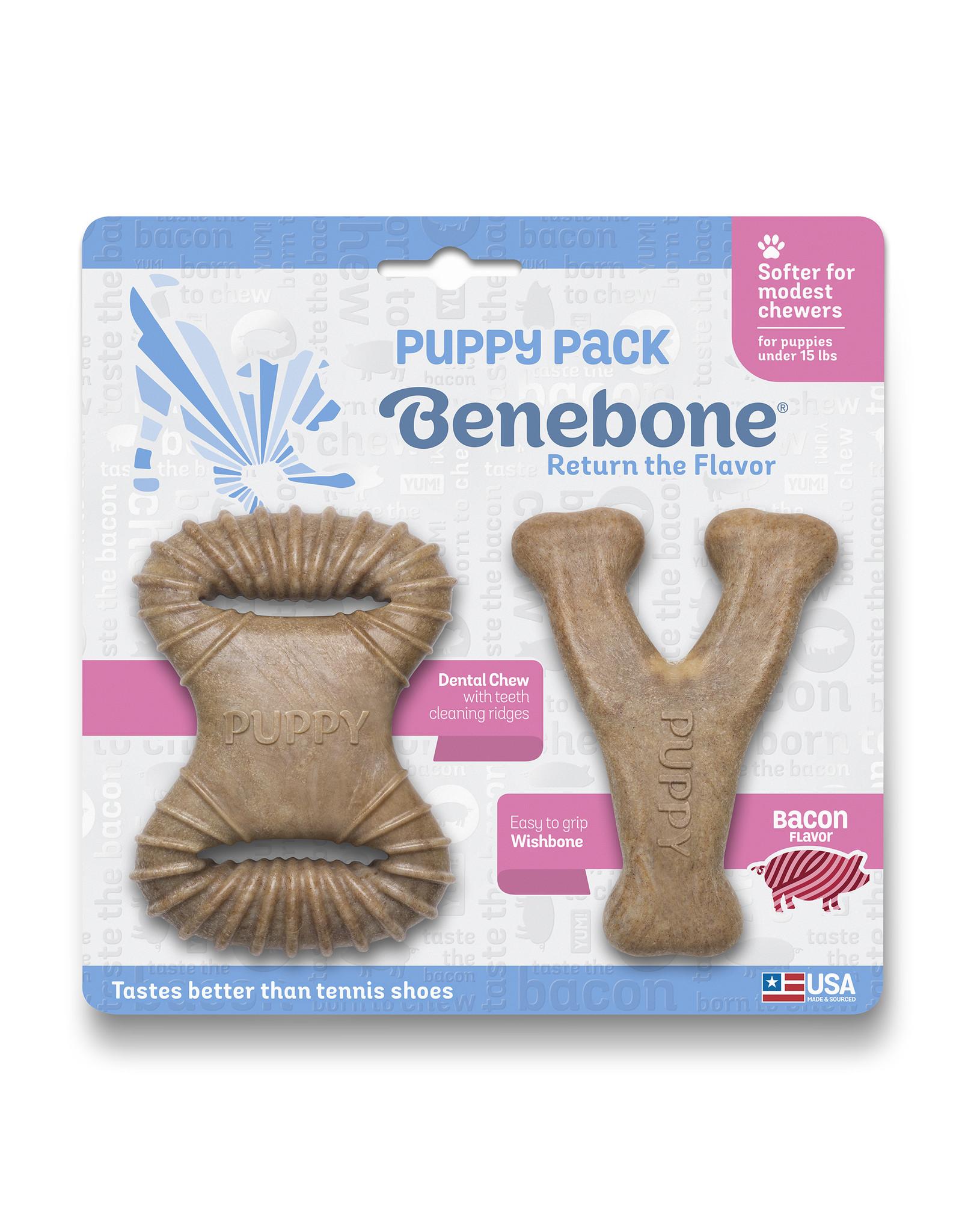 Benebone Benebone Puppy 2-Pack Wishbone & Dental Chew