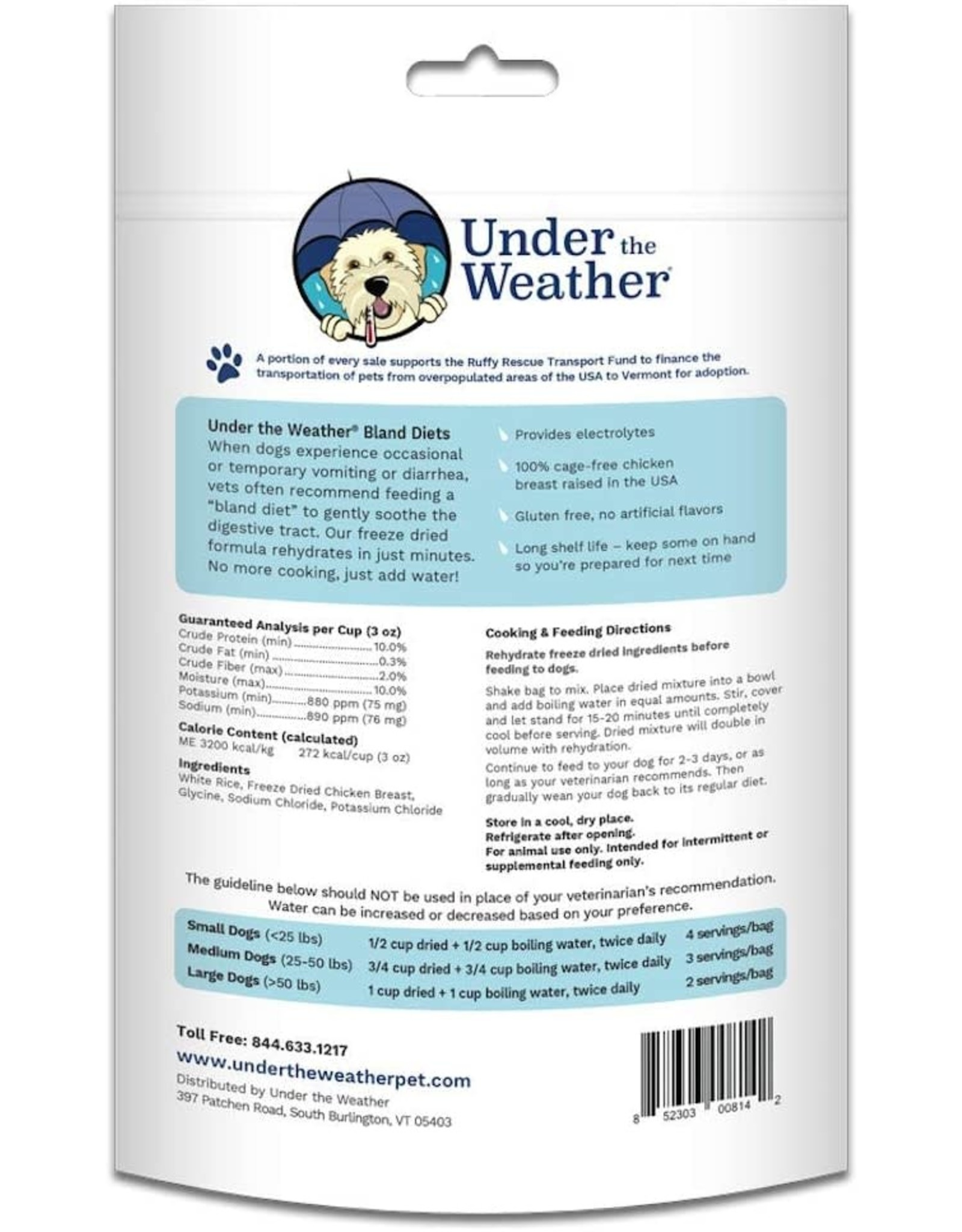 Under the Weather Chicken & Rice Bland Diet For Dogs