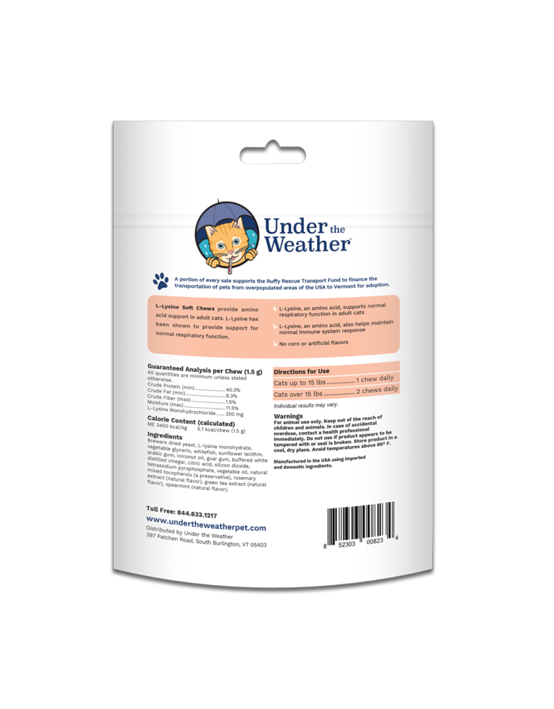 Under the Weather Under the Weather L-Lysine Soft Chews For Cats