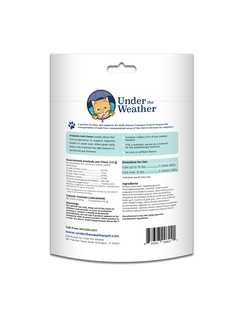 Under the Weather Under the Weather Probiotic Soft Chews For Cats