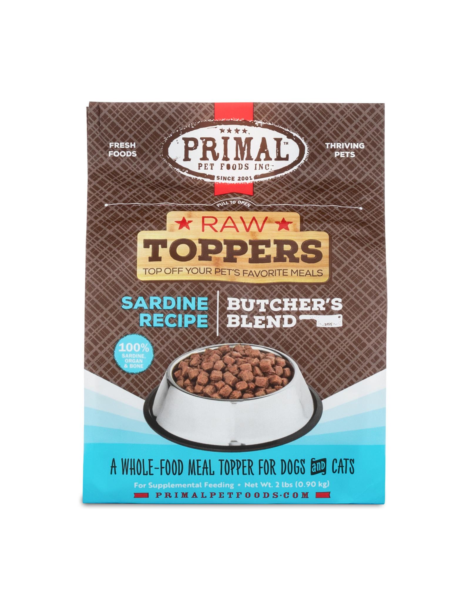 Primal Pet Foods Primal Raw Toppers Butcher's Blend Sardine
