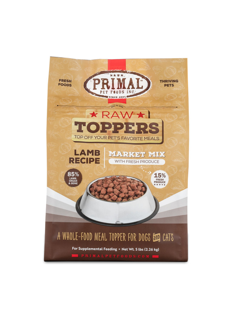 Primal Pet Foods Primal Raw Toppers Market Mix Lamb
