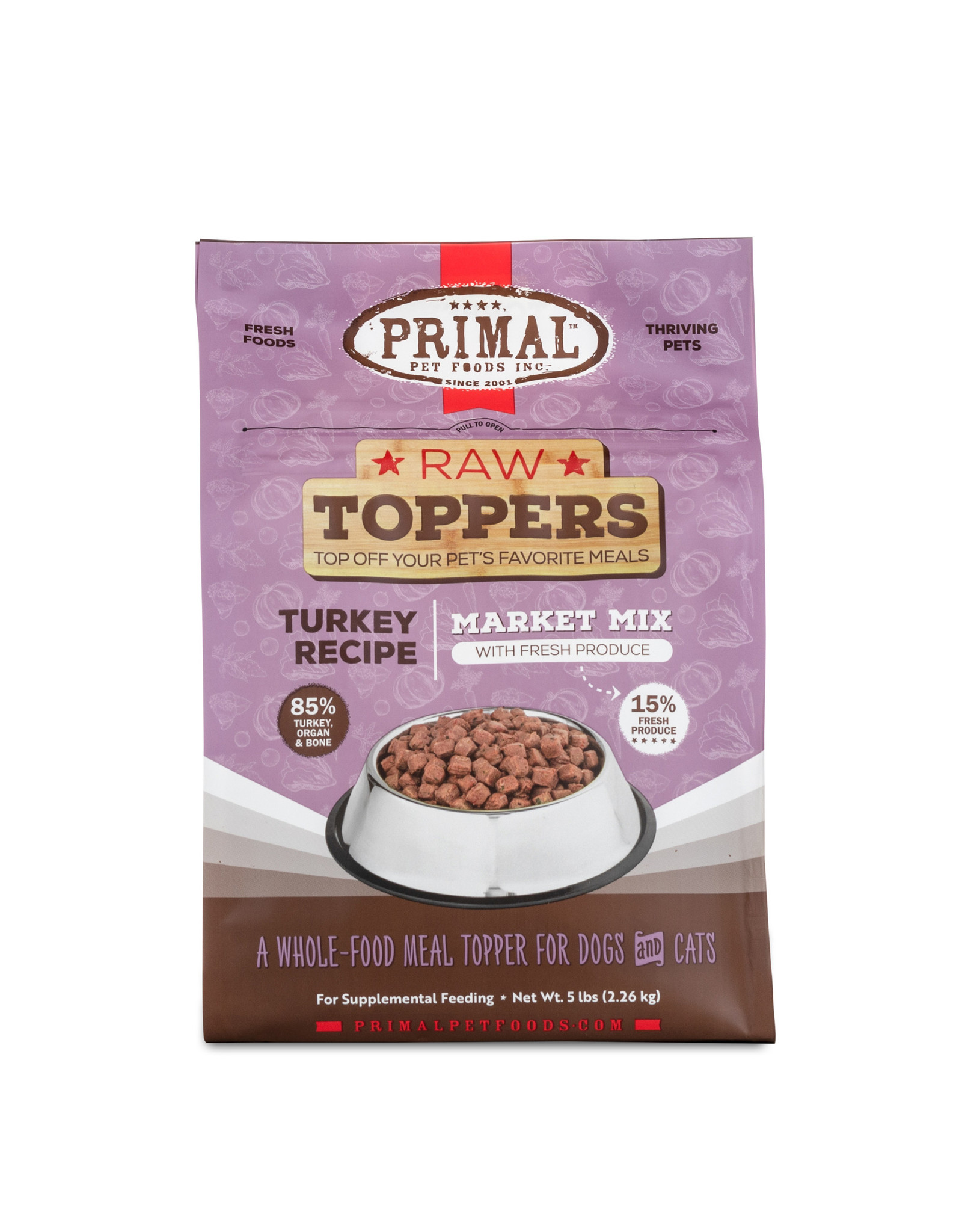 Primal Primal Raw Toppers Market Mix Turkey