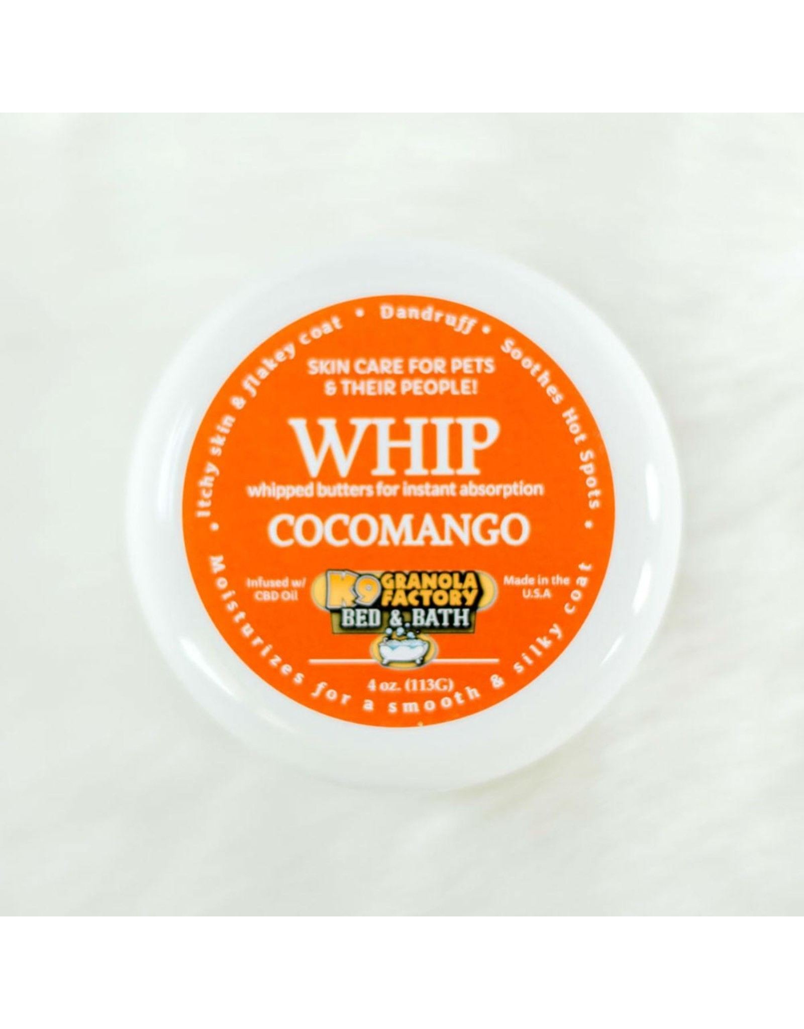 K9 Granola Factory WHIP Body Butter - Moisturizer for Dogs Skin & Coat