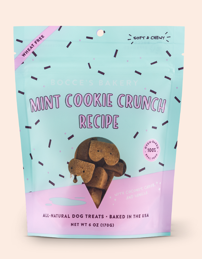 Bocce's Bakery Mint Cookie Crunch Soft & Chewy Treats