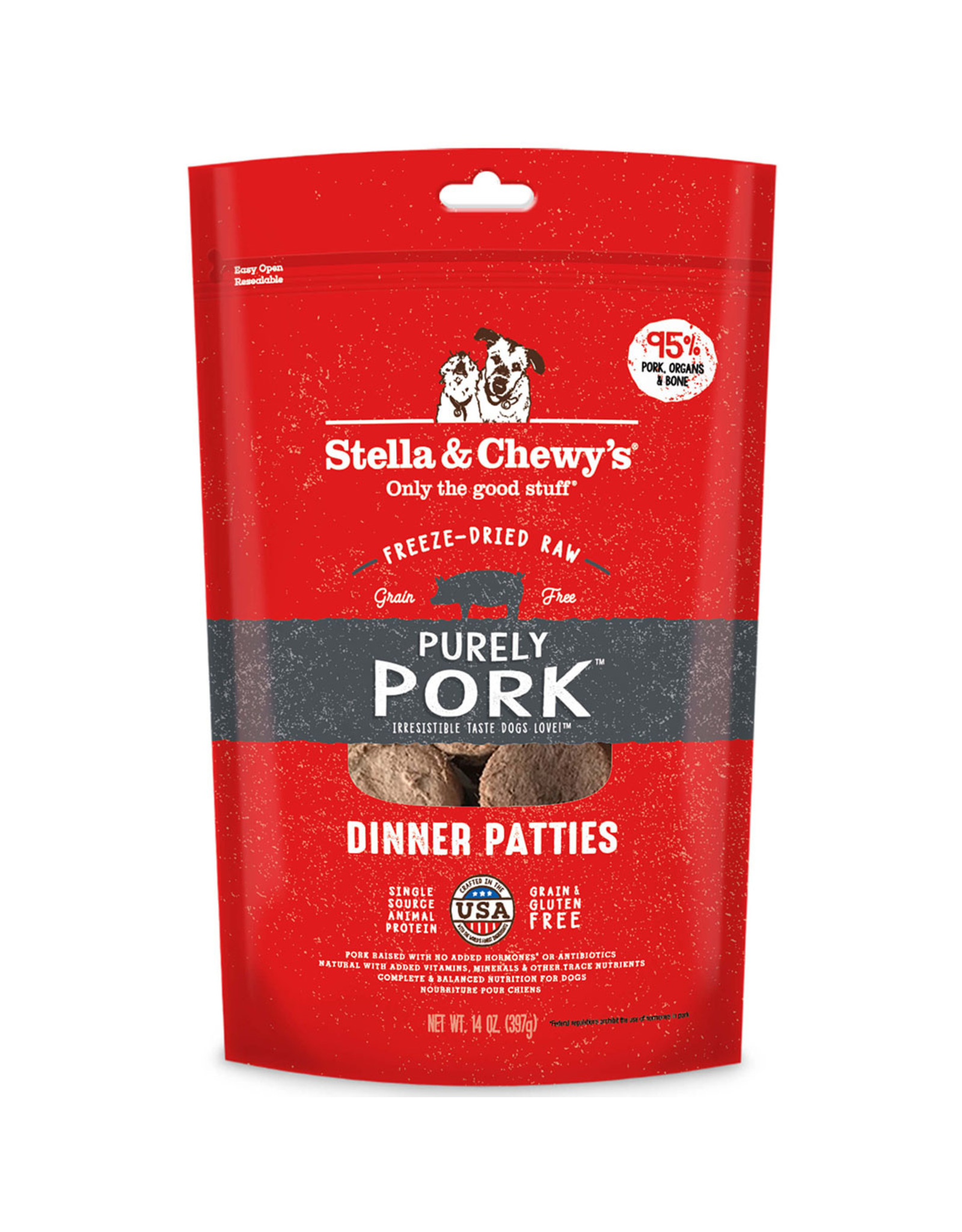 Stella & Chewy's Purely Pork Dinner Patties Freeze-Dried Raw Dog Food