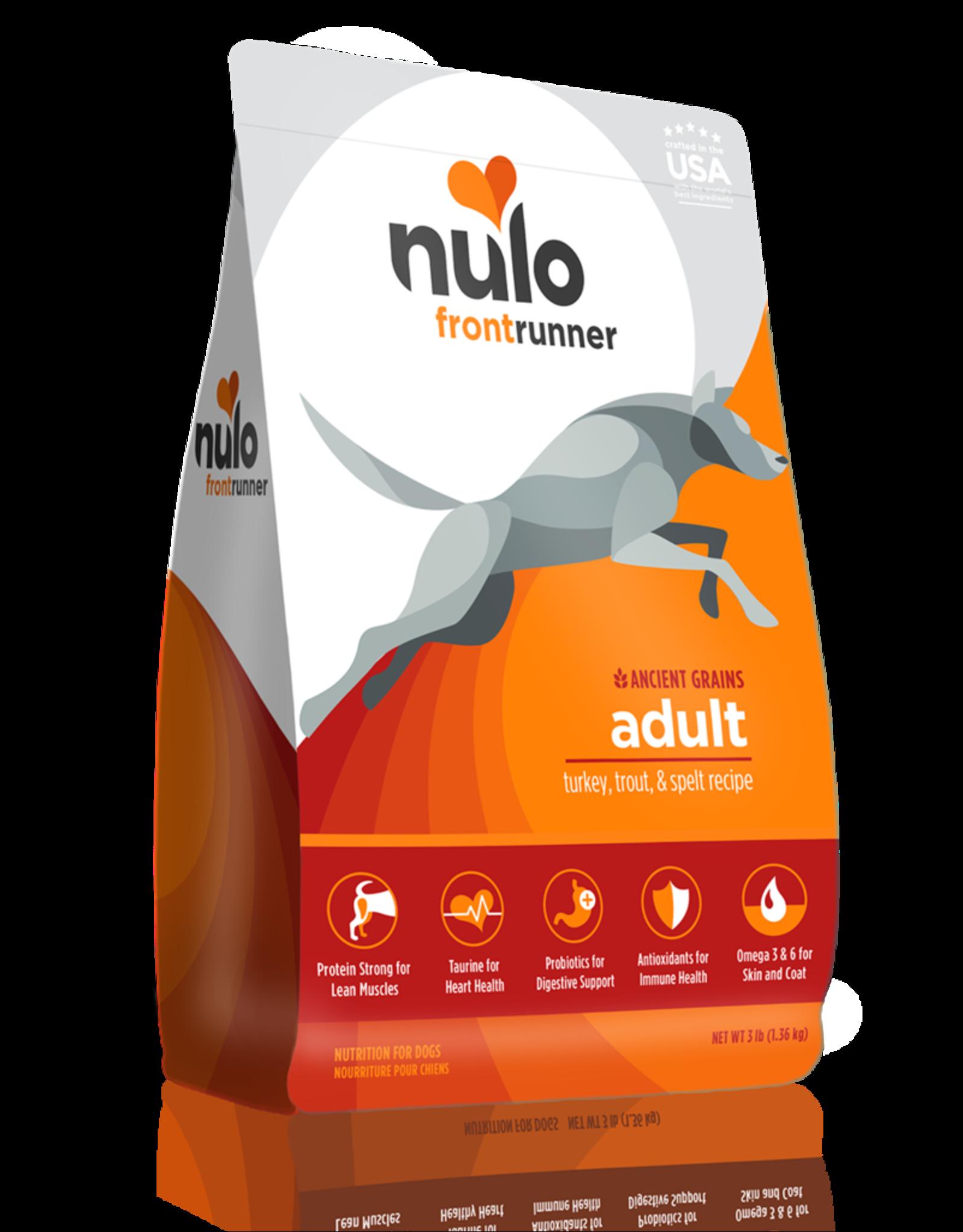 Nulo Frontrunner Adult Turkey, Trout & Spelt High-Meat Kibble