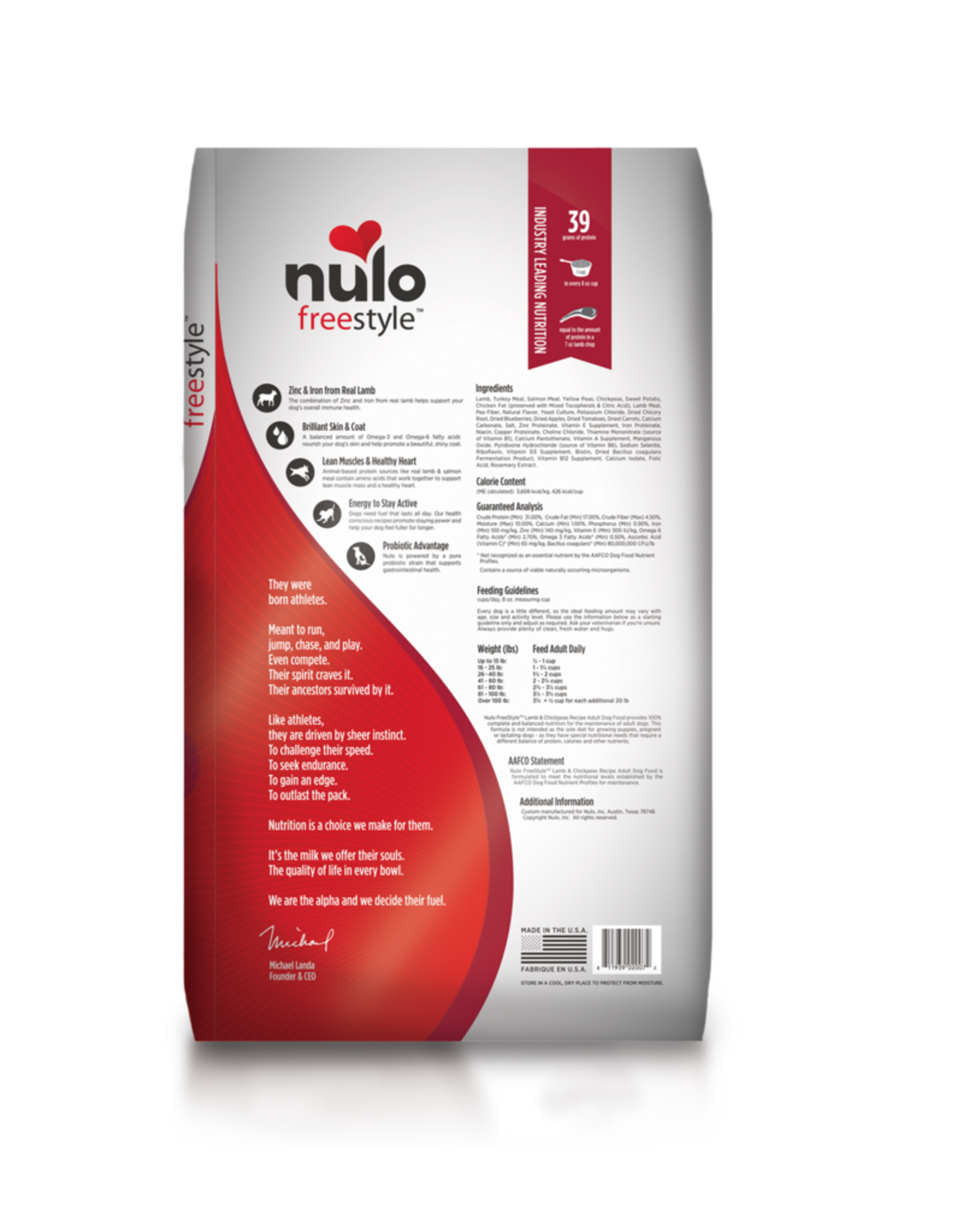 Nulo Freestyle Adult Lamb & Chickpeas High-Meat Kibble