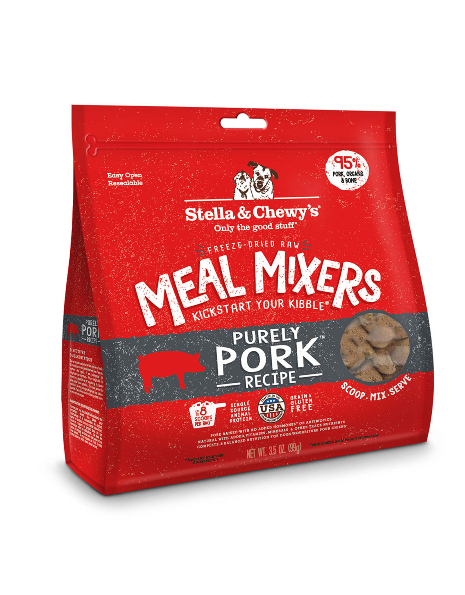 Stella & Chewy's Purely Pork Meal Mixers Freeze-Dried Raw Dog Food