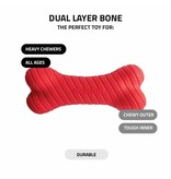 Playology Dual Layer Bone Scented Dog Toy