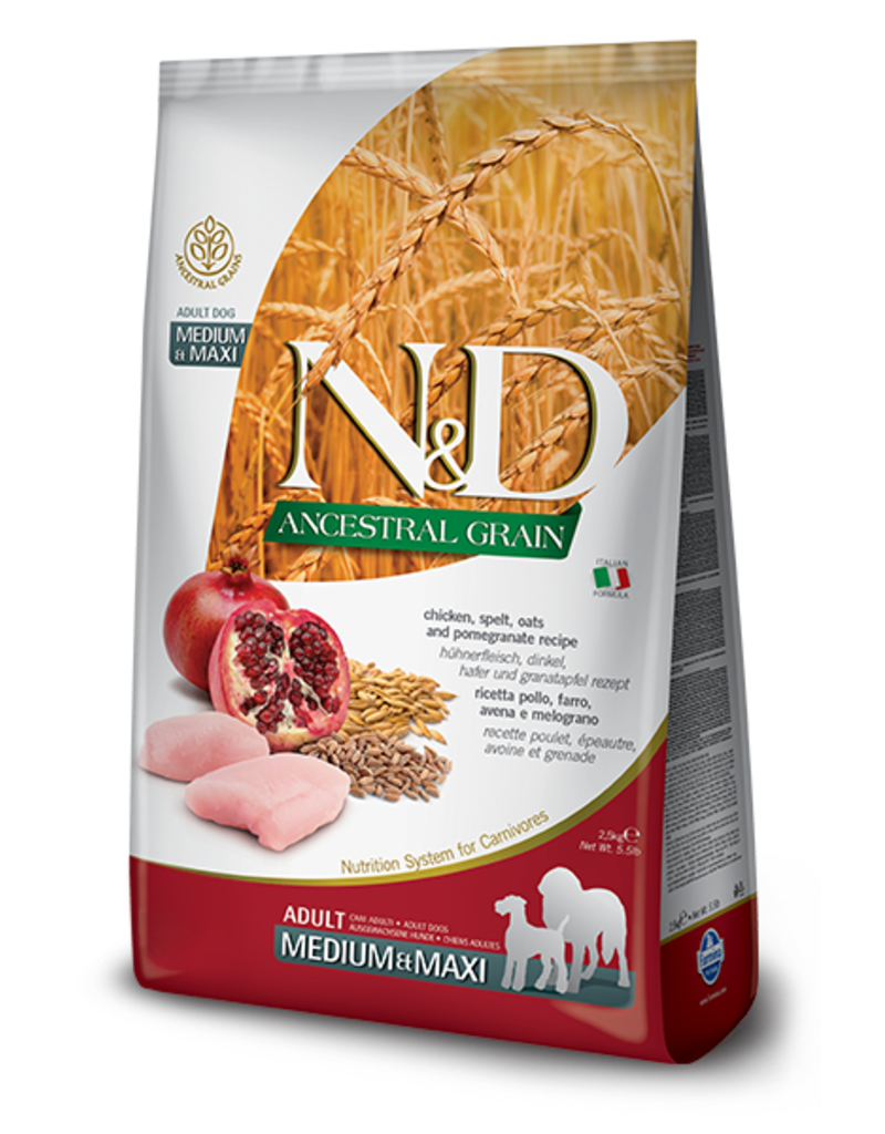 Farmina N&D Ancestral Grain Chicken & Pomegranate Adult Dog Food