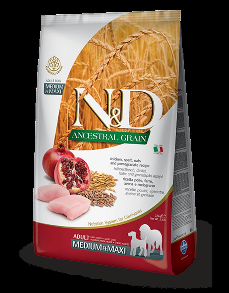 Farmina Pet Foods N&D Ancestral Grain Chicken & Pomegranate Adult Dog Food