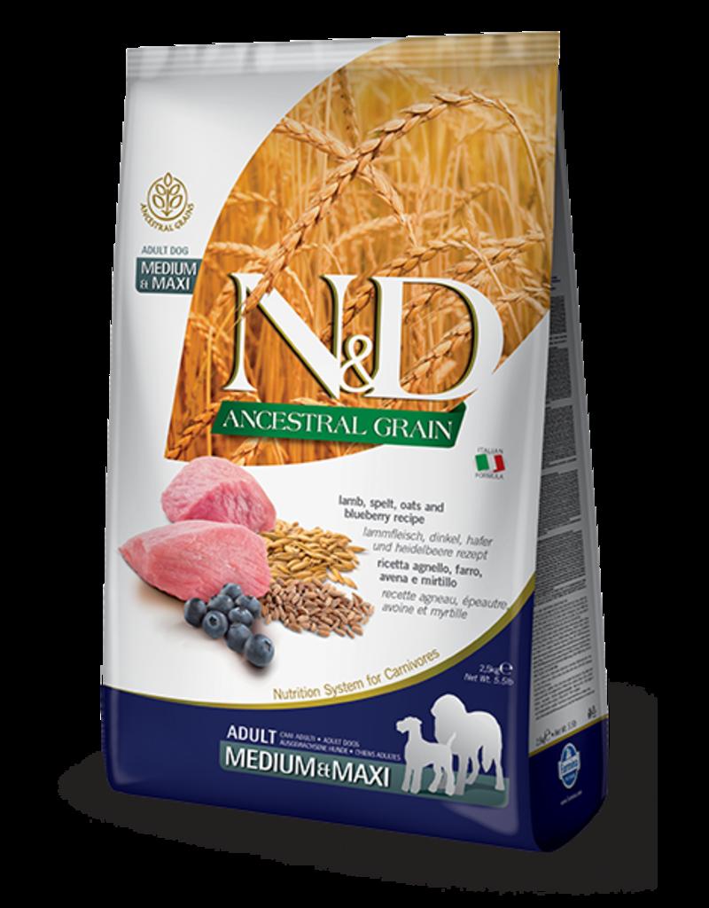 Farmina N&D Ancestral Grain Lamb & Blueberry Adult Dog Food