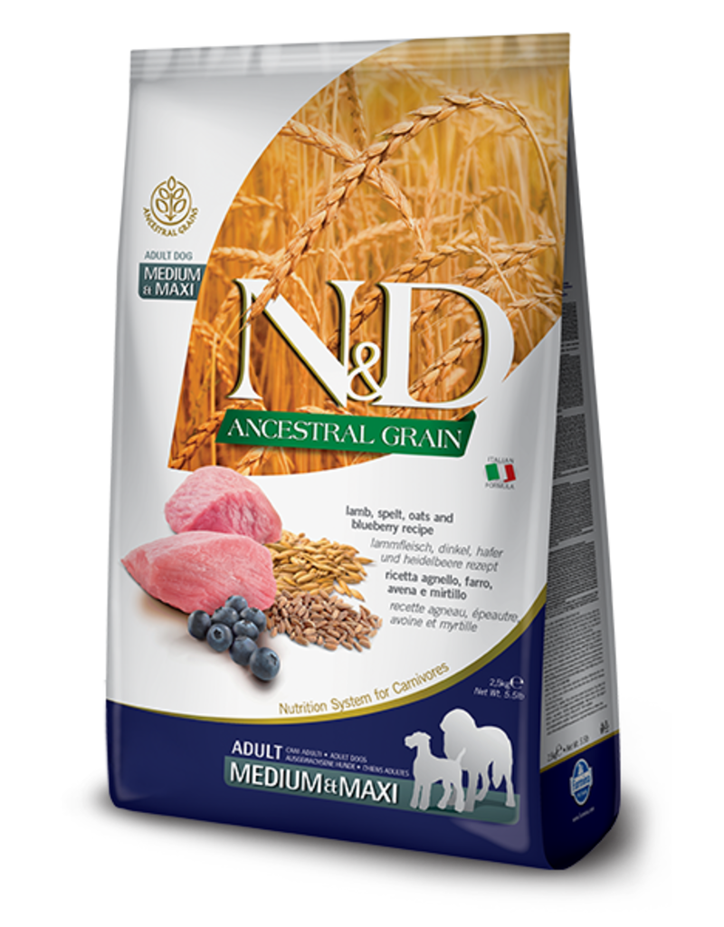 Farmina Pet Foods N&D Ancestral Grain Lamb & Blueberry Adult Dog Food