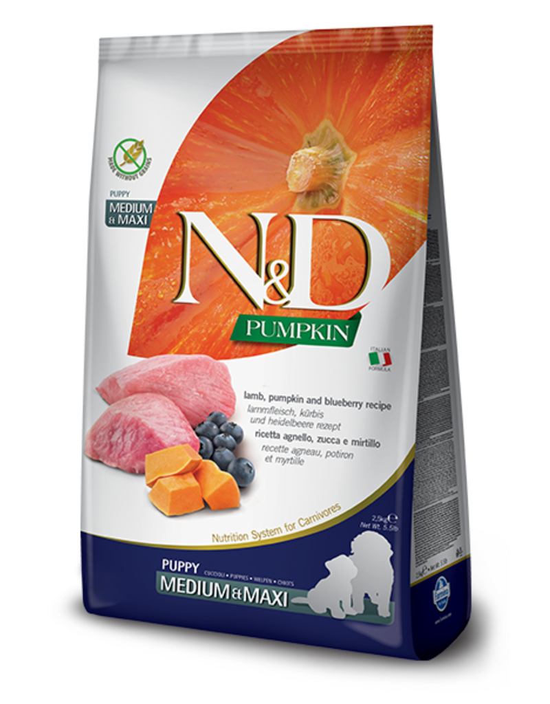 Farmina Pet Foods N&D Pumpkin Grain-Free Lamb & Blueberry Puppy Food