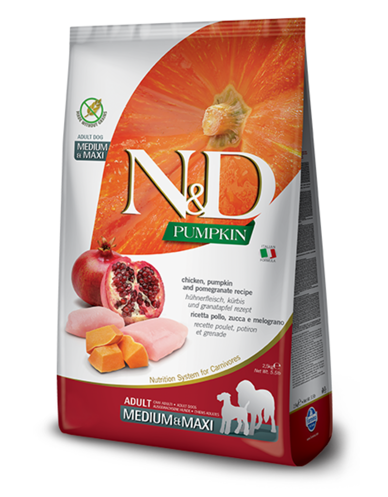 Farmina N&D Pumpkin Grain-Free Chicken & Pomegranate Adult Dog Food