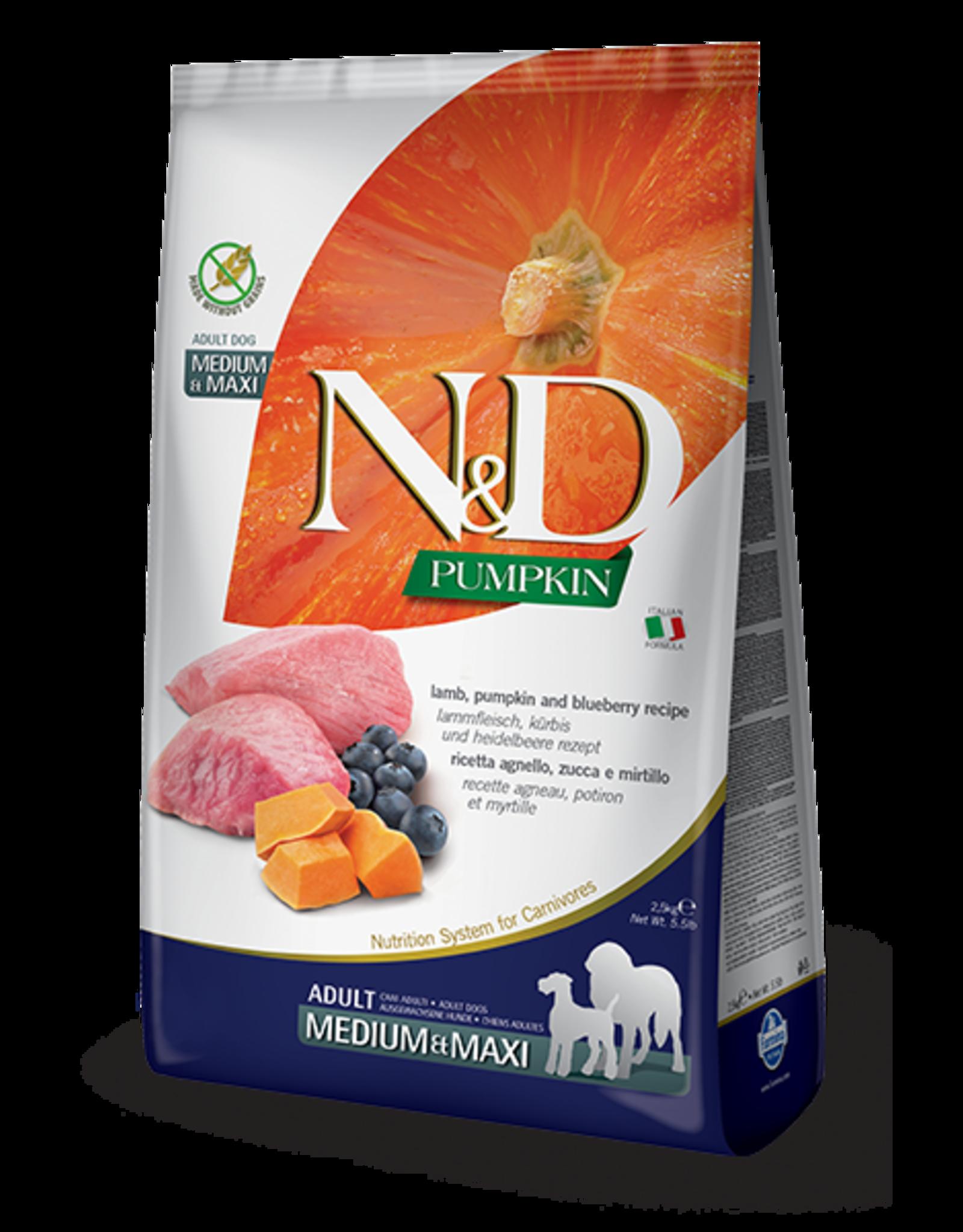 N&D Pumpkin Grain-Free Lamb & Blueberry Adult Dog Food