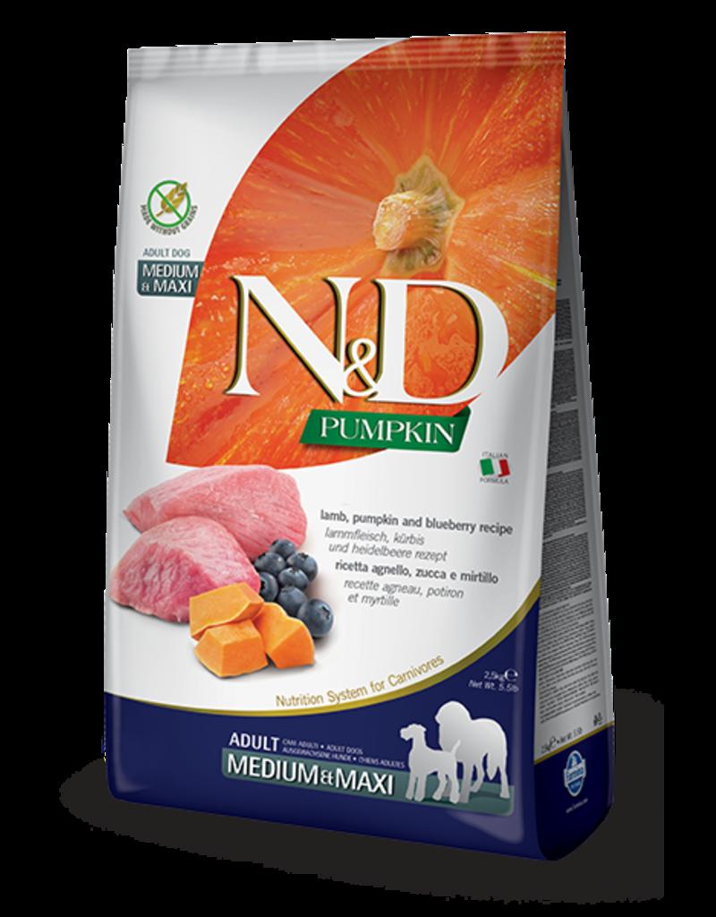 Farmina N&D Pumpkin Grain-Free Lamb & Blueberry Adult Dog Food