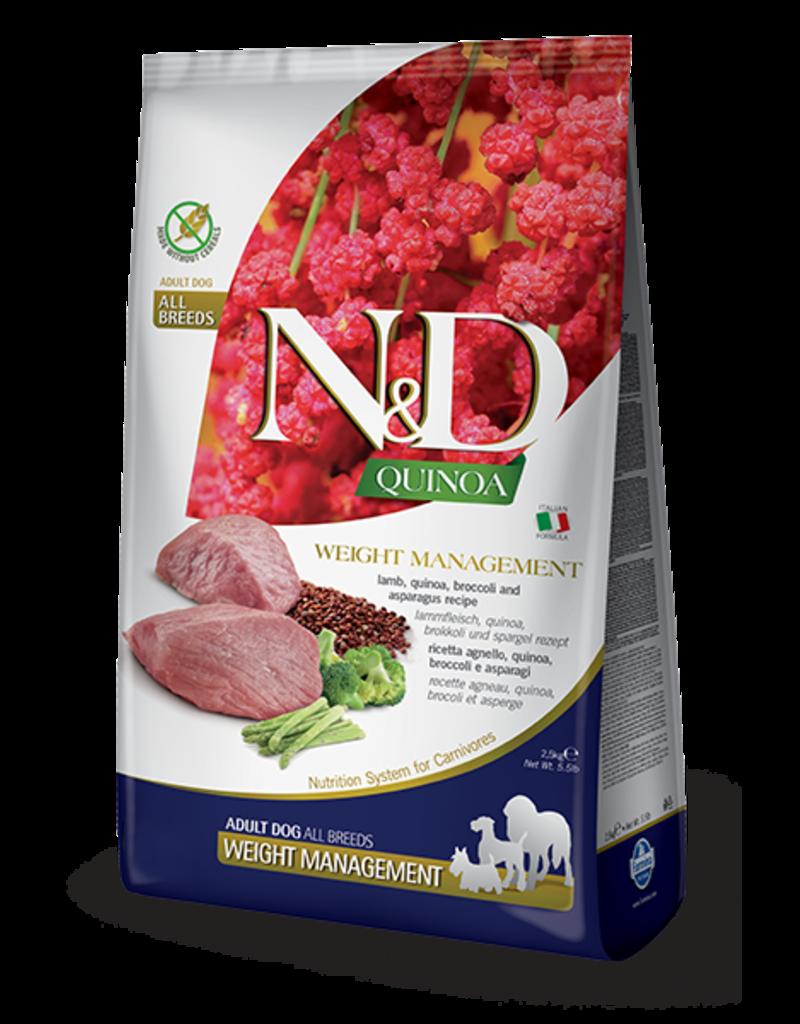 Farmina N&D Quinoa Weight Management Lamb Adult Dog Food