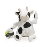 HuggleHounds Cow Knottie Plush Toy