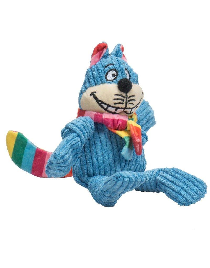 HuggleHounds Rainbow Cheshire Cat Knottie Plush Toy