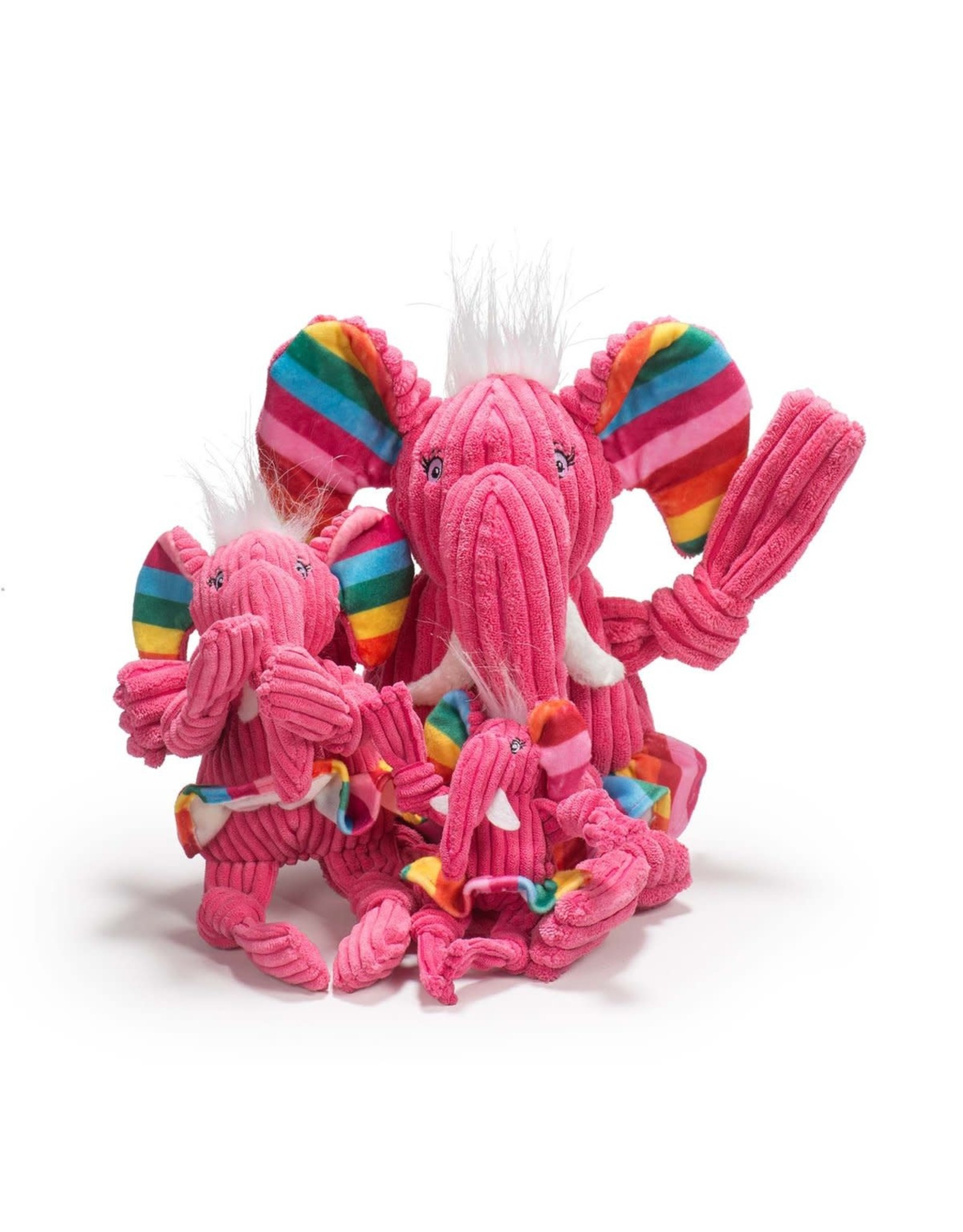 Rainbow Elephant Knottie - HuggleHounds