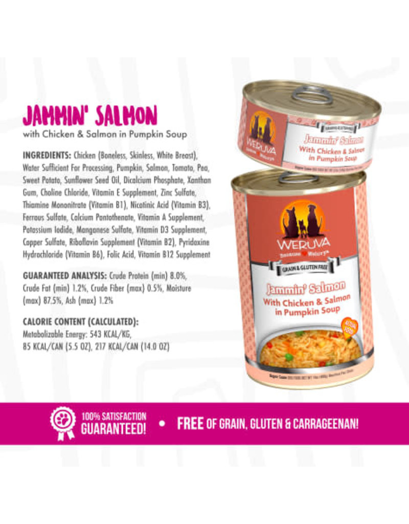 Weruva Weruva Jammin' Salmon with Chicken & Salmon in Pumpkin Soup Wet Dog Food