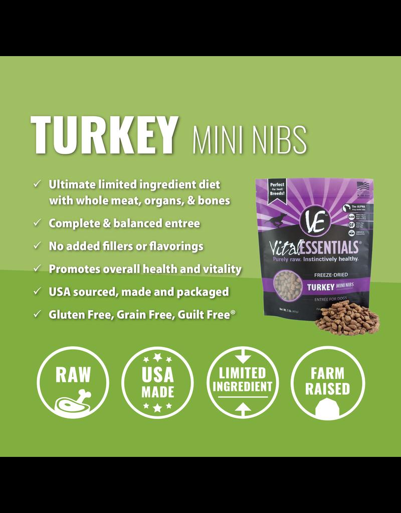 Vital Essentials Turkey Mini Nibs Freeze-Dried Grain Free Dog Food
