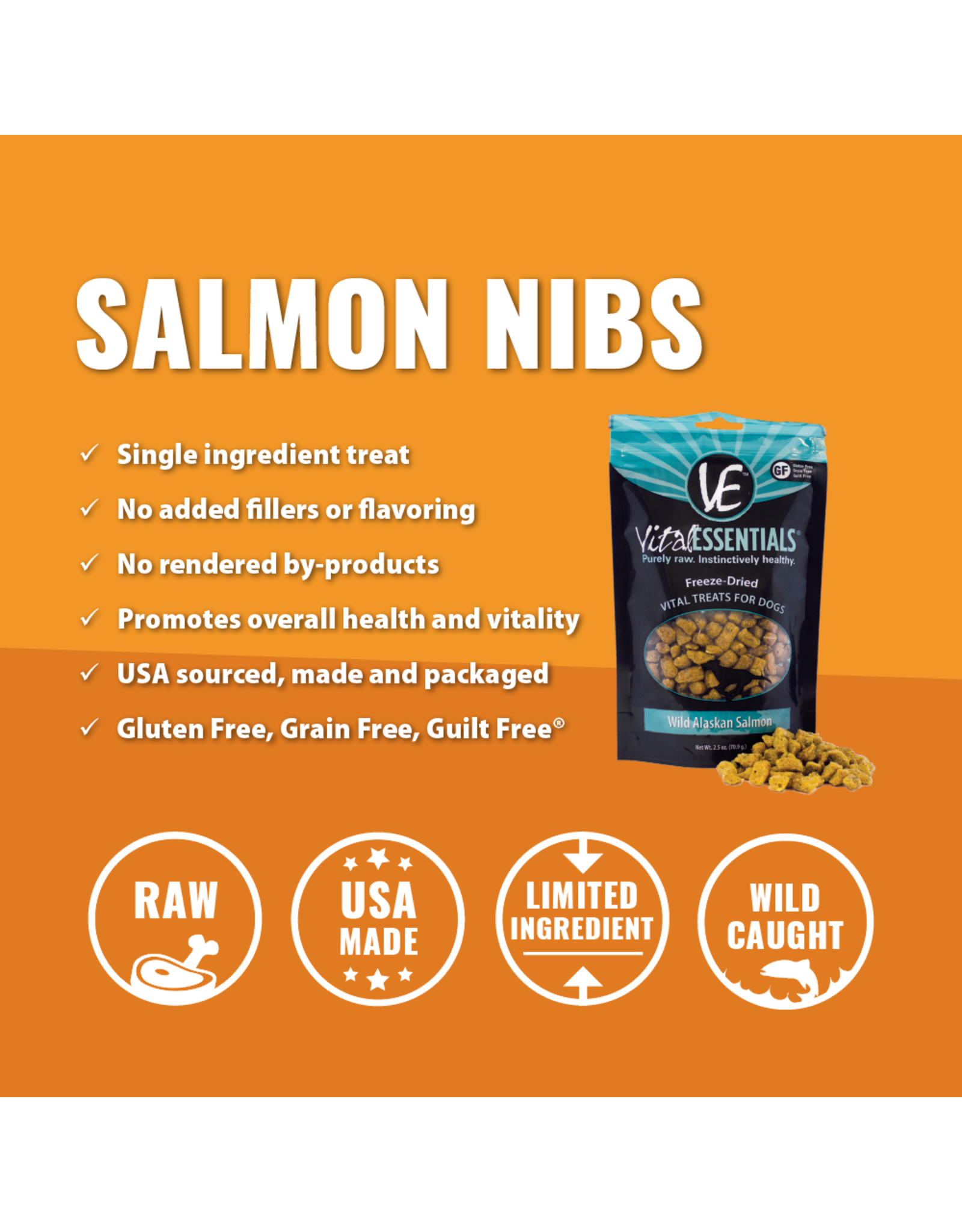 Wild Alaskan Salmon Freeze-Dried Grain Free Treats