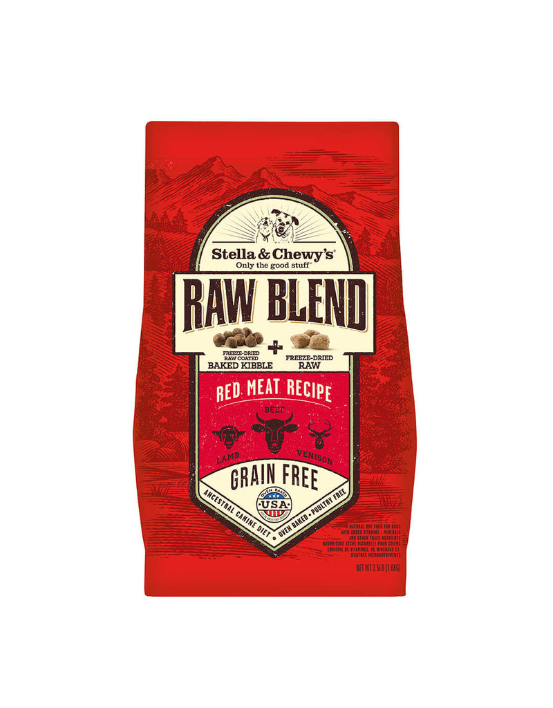 Stella & Chewy's Red Meat Recipe Raw Blend Baked Kibble