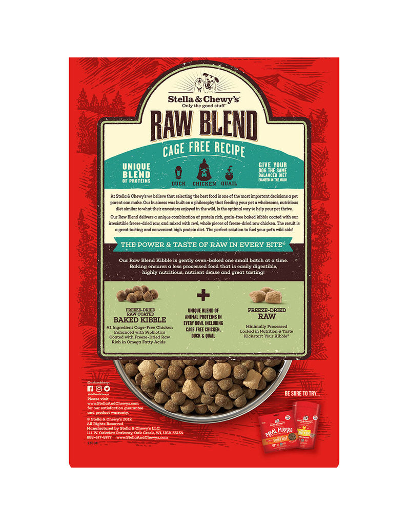 Stella & Chewy's Cage-Free Recipe Raw Blend Kibble