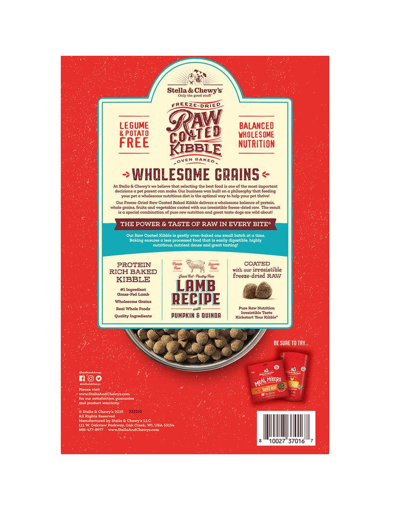 Stella & Chewy's Lamb Recipe with Pumpkin & Quinoa Raw Coated Kibble Wholesome Grains