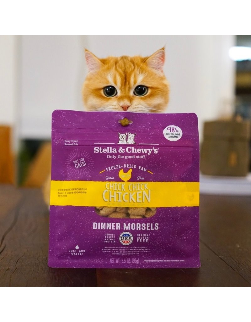 Stella & Chewy's Chick, Chick, Chicken Dinner Morsels Freeze-Dried Raw Cat Food