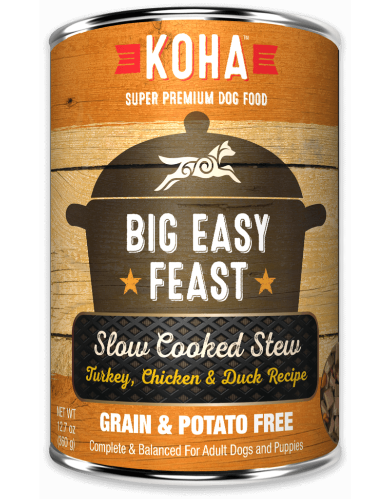 Koha Big Easy Feast Slow Cooked Stew Turkey, Chicken, & Duck for Dogs