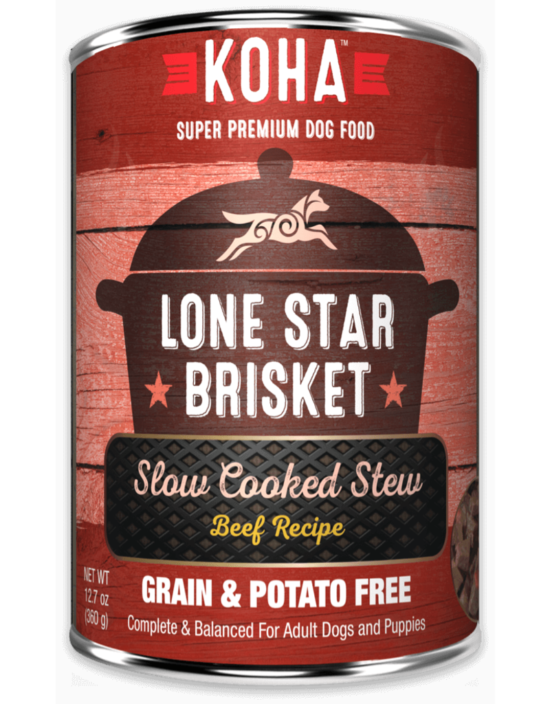 Koha Lone Star Brisket Slow Cooked Stew Beef Recipe for Dogs