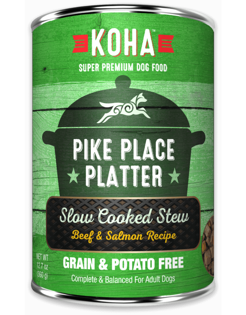 Koha Pike Place Platter Slow Cooked Stew Beef & Salmon Recipe for Dogs