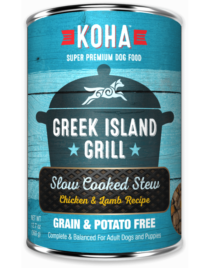 Koha Greek Island Grill Slow Cooked Stew Chicken and Lamb for Dogs