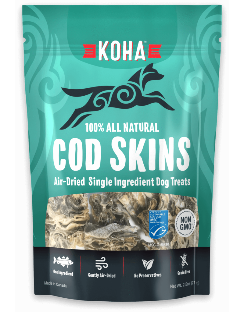 Koha Cod Skins All Natural Air-Dried Single Ingredient Dog Treats